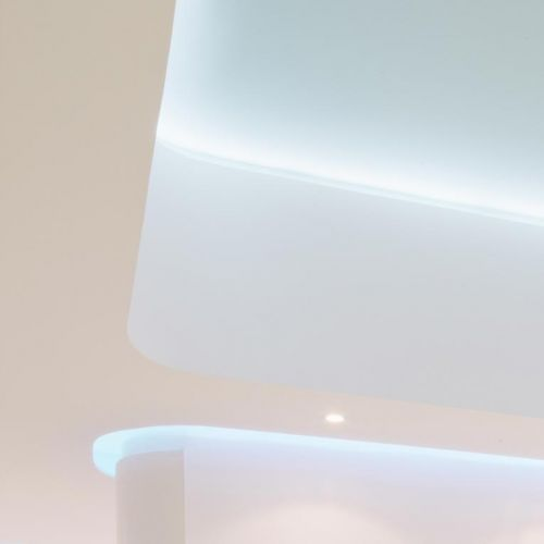 Light blue indirect LED lighting