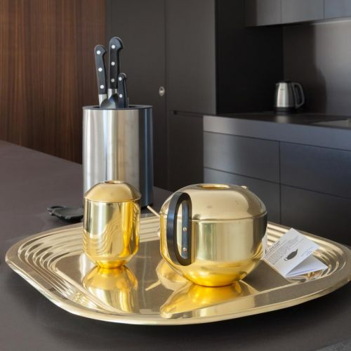 Elegant brass tea set