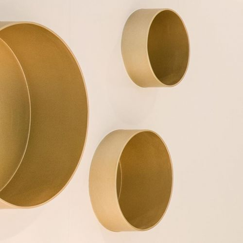 Golden cylindrical displays